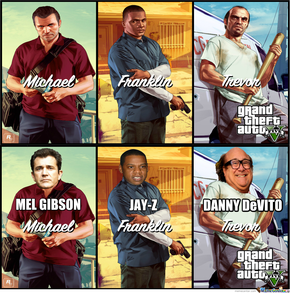Gta V Main Characters' Celebrity Replacements