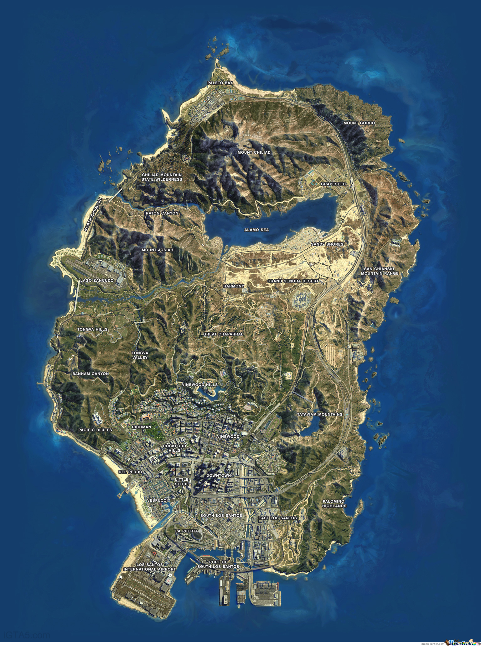 Gta v map actual size satalite view by customz meme center gta v map actual size satalite view gumiabroncs Image collections