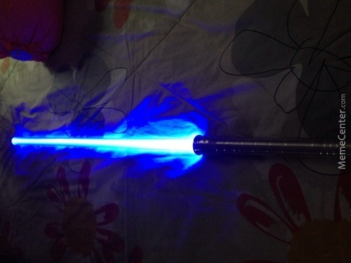 Guess What Came In The Mail Today(Battle Saber A Light Saber That You Can Actually Fight With)