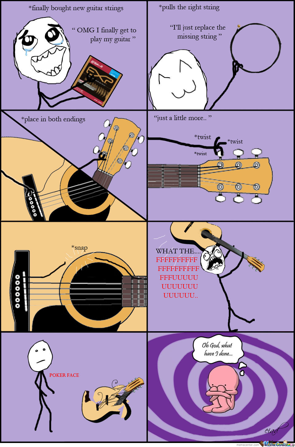 guitar rage by eiad meme center. Black Bedroom Furniture Sets. Home Design Ideas