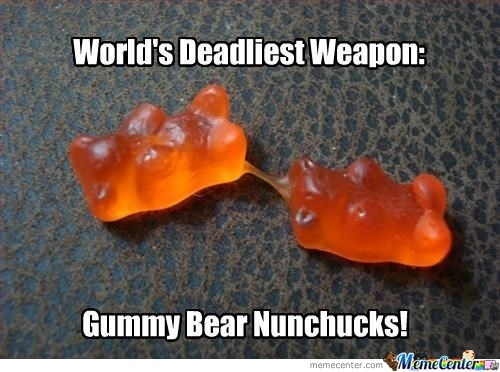 gummy bear nunchucks_o_1932137 gummy bear nunchucks! by bogdan milenkovic 79 meme center