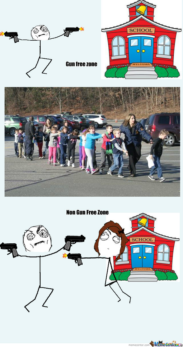 gun free zone yeah right_o_981362 gun free zone? yeah right by pajamasam18 meme center,Gun Free Zone Meme