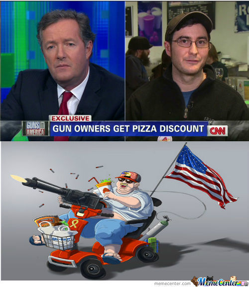 Guns, Pizza, And A Side Of 'murica