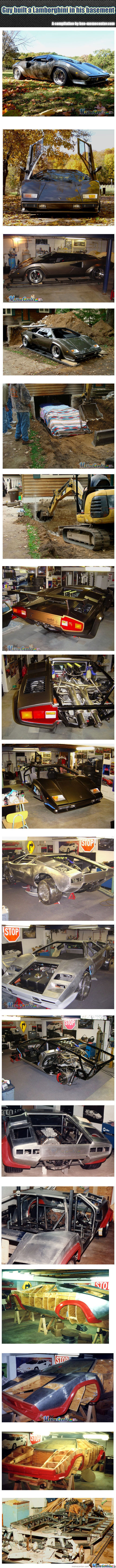 Guy Built A Lamborghini In His Basement
