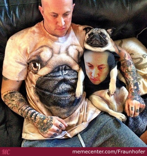 Guy With His Beloved Pet