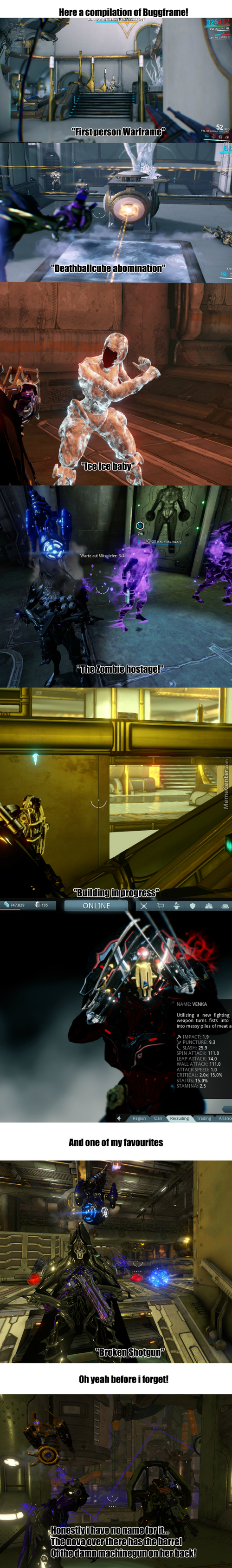 Hah The Beautiful And Buggy World Of Warframe.... I Love It.