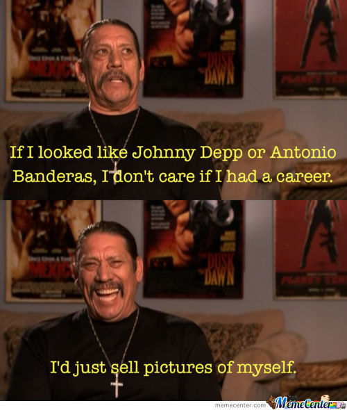 Danny Trejo (machete) talks about Johnny Depp and Antonio Banderas