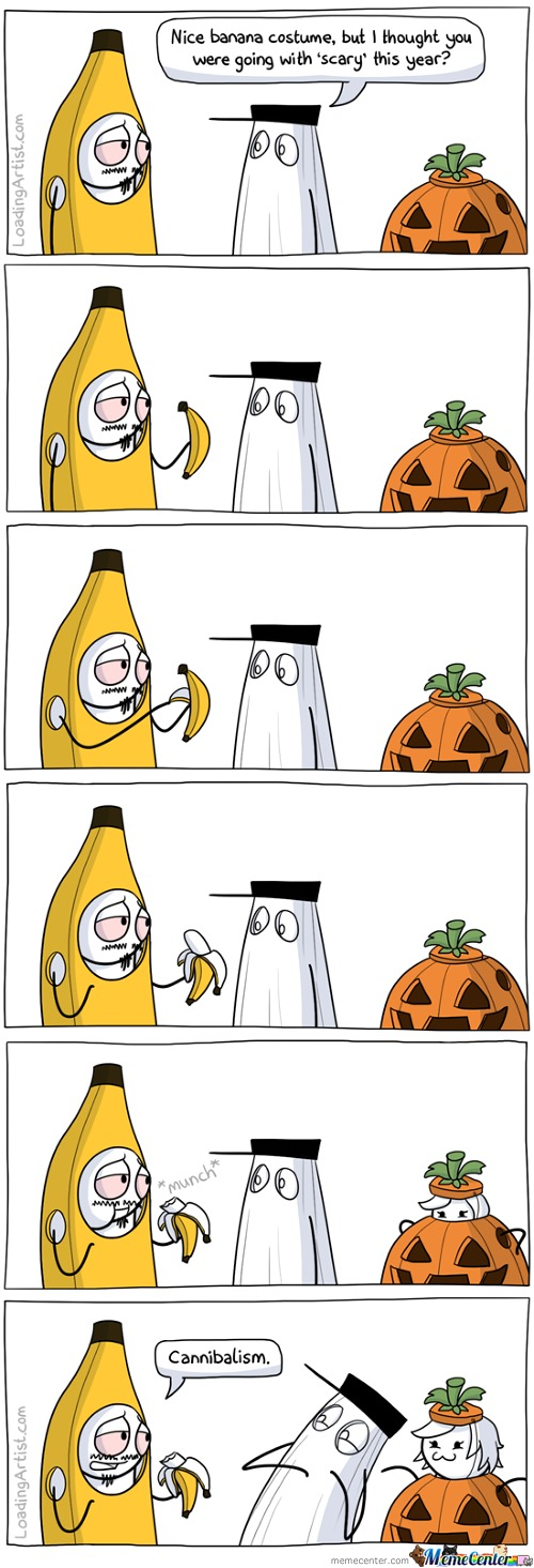 Halloween Banana ( Watch The Pumpkin >.< )