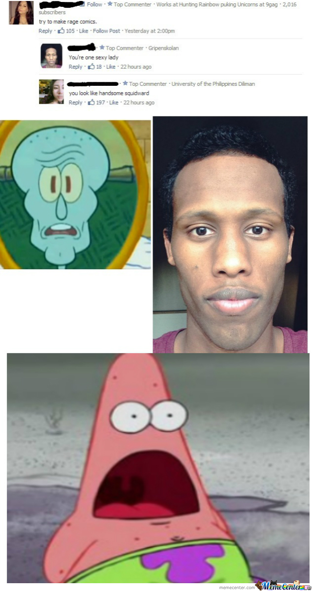 handsome squidward by linusjasper meme center