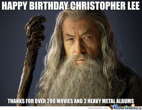 Happy Birthday Christopher Lee