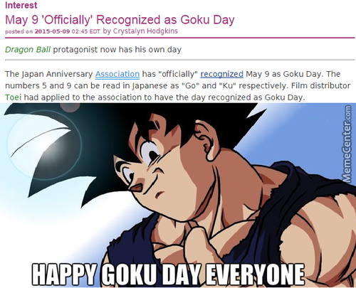 Happy Goku Day