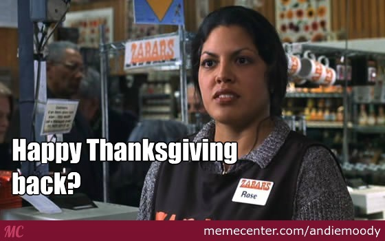Happy Thanksgiving Back? From You've Got Mail by ...