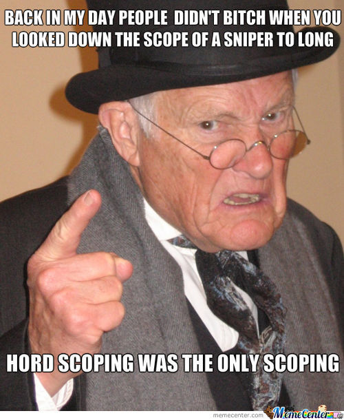 Hard Scoping? You Mean Sniping