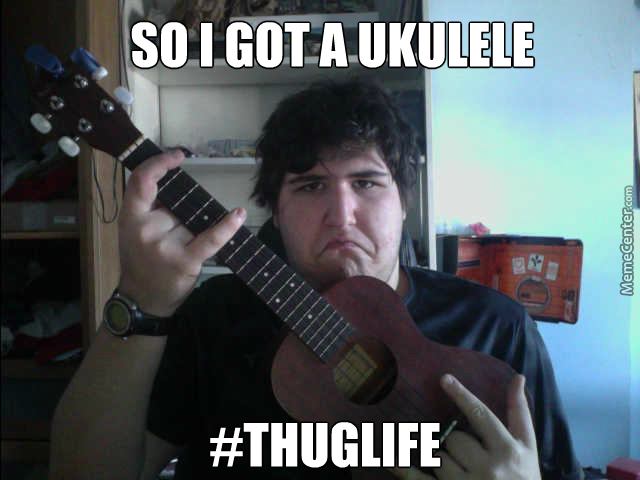 hardcore ukulele player over here_o_4225743 hardcore ukulele player over here by dylan1313 meme center,Ukulele Meme