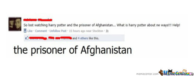 Harry Potter Ad The Prisoner Of Afghanistan...sounds Like A Orrible Movie..i'll Just Watch The Prisoner Of Azkaban :i