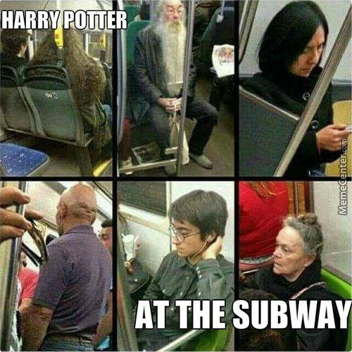Harry Potter At The Subway