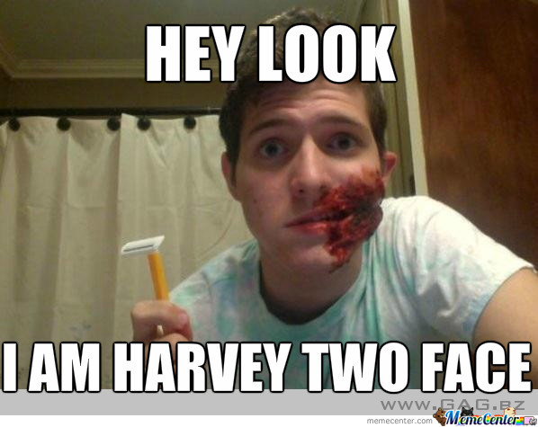 Harvey Two Face By Inlove Meme Center