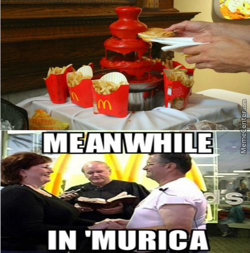 Have You Ever Been So 'murican That You Had A Ketchup And Fries Fondue?