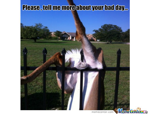 Having A Bad Day ?