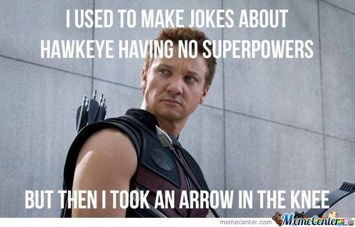 Hawkeye Played Too Much Skyrim