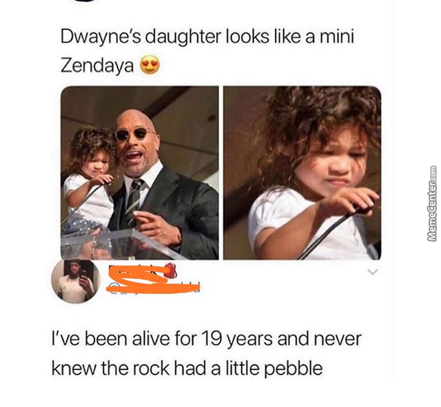 He Has Two Pebbles And A Medium Rock