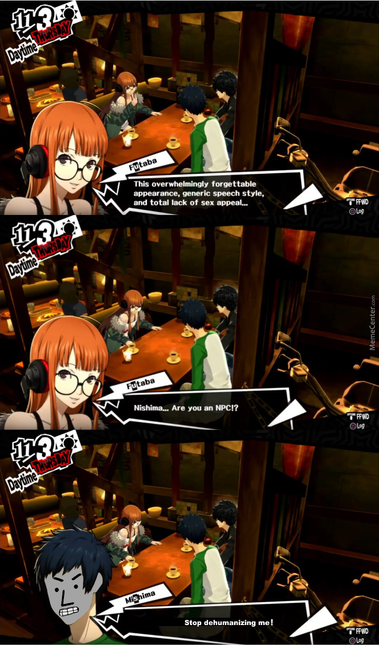 He Isn't Playable, So She's Technically Right. (Game: Persona 5)