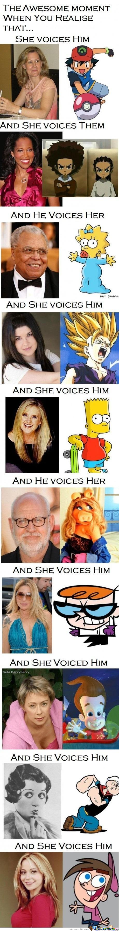 He Voiced Her  And She Voice Him...wait..what?