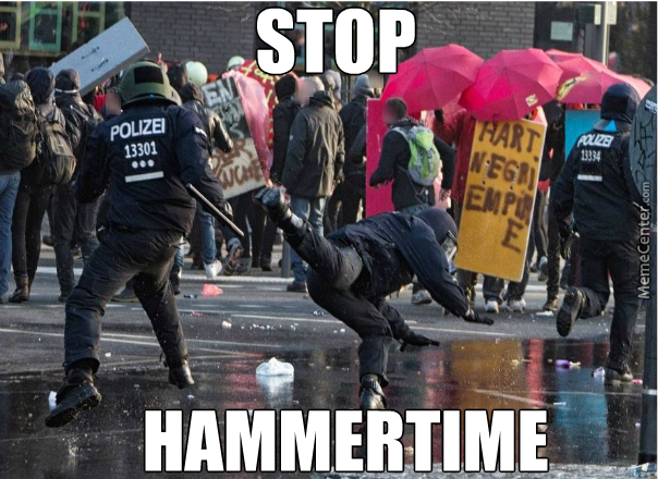 He Will Disperse The Protesters With His Mad Breakdance Skills