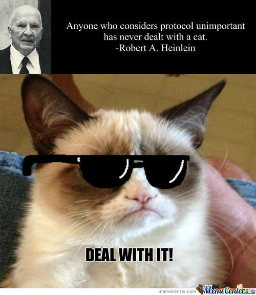 Heinlein Deals With Cat