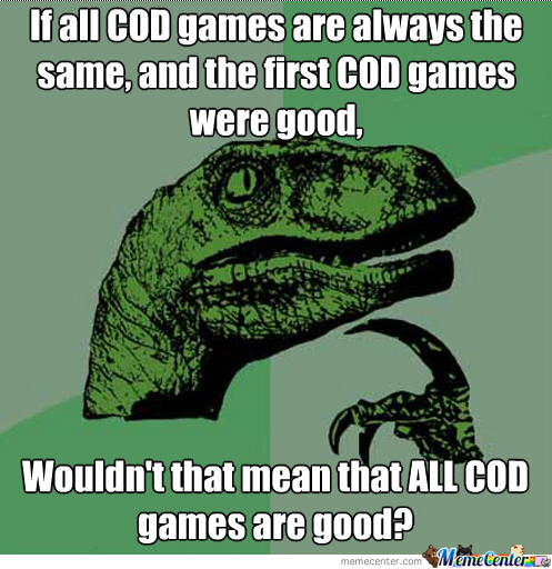 Here's Something For You Guys To Think Before Mindlessly Hating On Cod