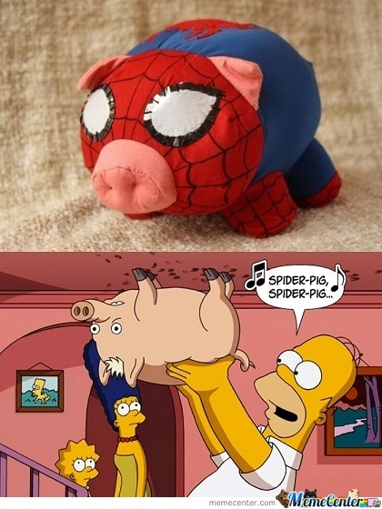 Here Comes The Spider Pig