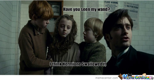 Hermoine Swallowed A Wand