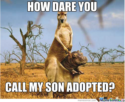 He's Not Adopted!