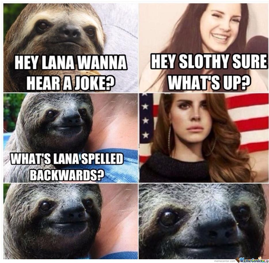 hey lana wanna hear a joke_o_2032803 sloth memes best collection of funny sloth pictures,Sloth Meme Images