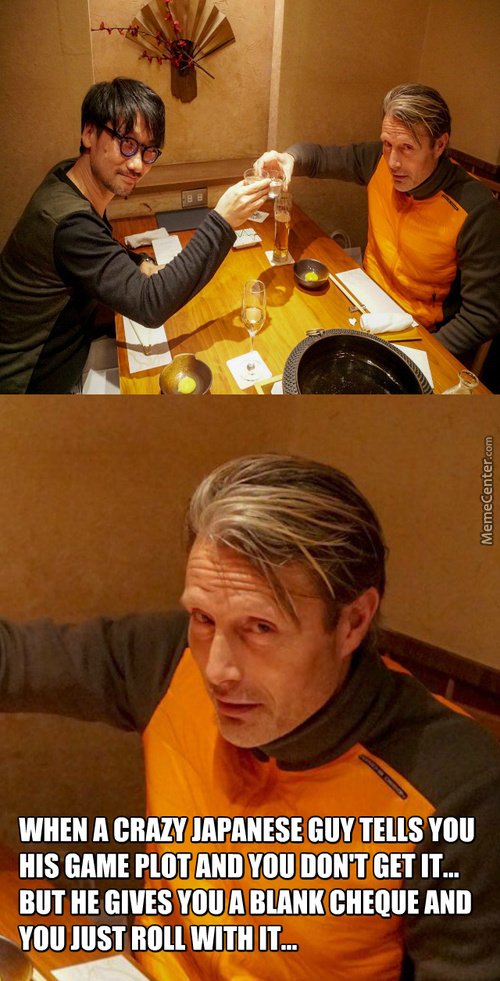 Hideo Kojima And Mads Mikkelsen Having Dinner