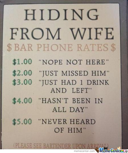 Hiding From Wife