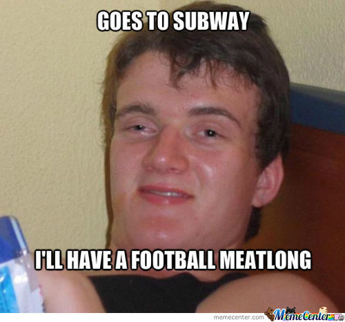 High Guy Goes To Subway