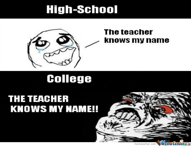 High School Vs College by recyclebin - Meme Center