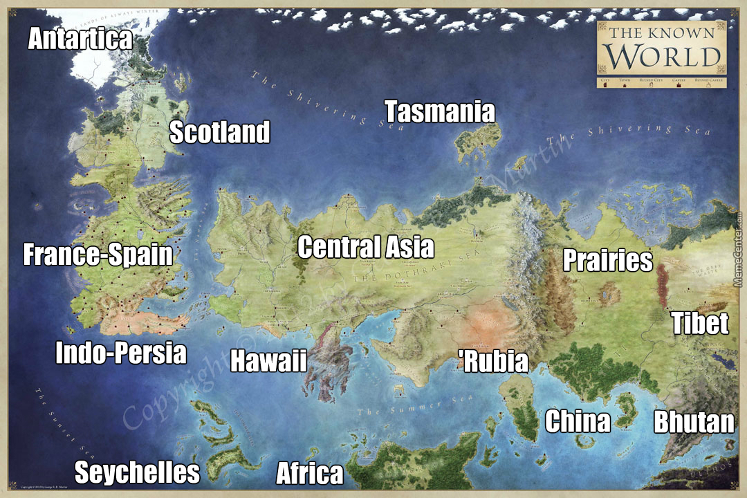 Highly accurate map game of thrones world to our world by highly accurate map game of thrones world to our world gumiabroncs Gallery