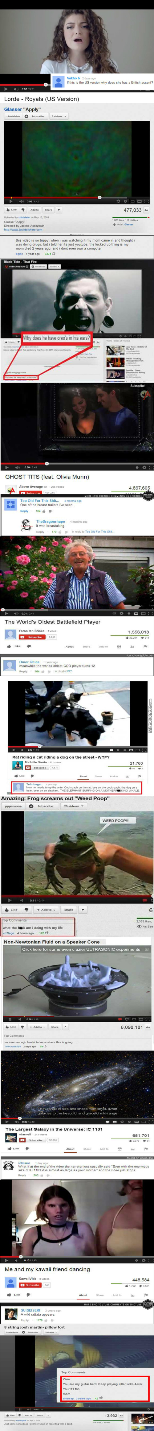 Hilarious Youtube Comments