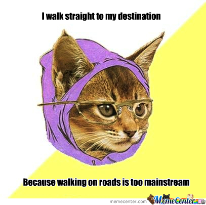 Hipster Traveler Kitty :d