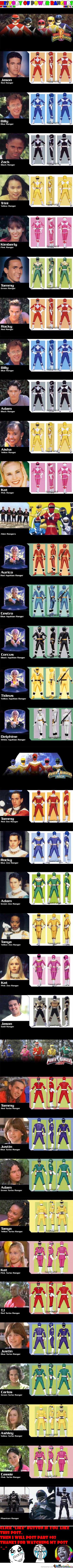 History Of Power Rangers: Part #01 (Please Feature Me) :p