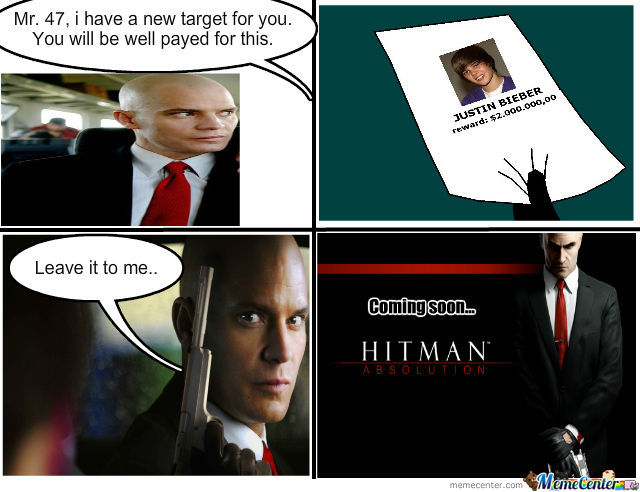 Hitman Justin Bieber S End By Cipher014 Meme Center