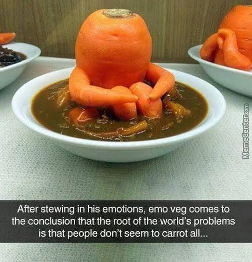 Hmmmm... This Soup Tastes A Little Punny... Damn That Soup Nazi! Carrot Juice Is Murder!
