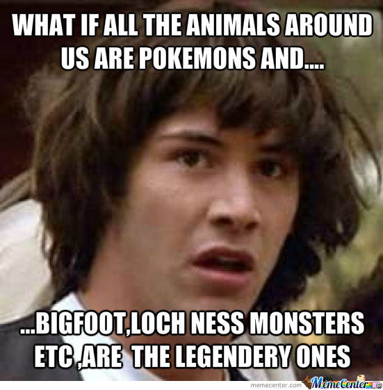 What if all the animals around us are pokemons ?