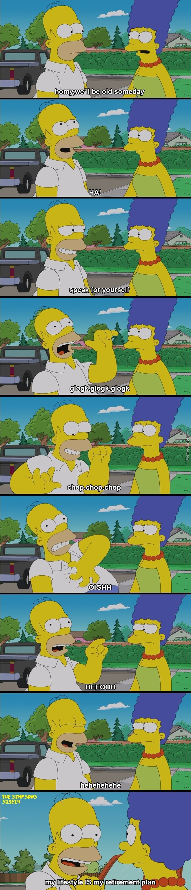 Homer Knows How To Go