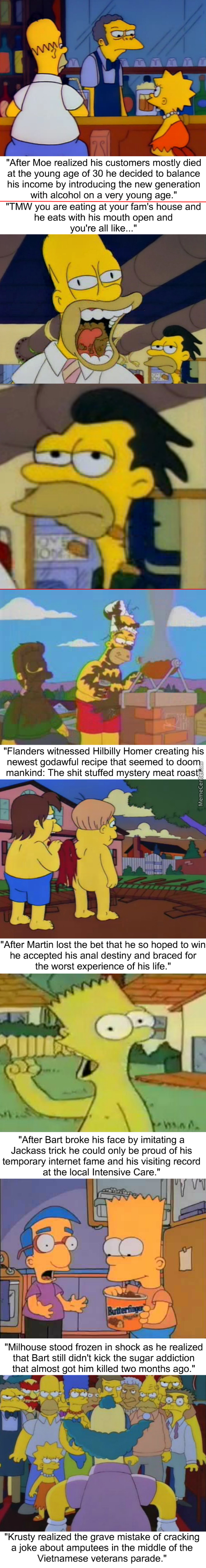 Homerstrips: Homer's Bad Table Manners And God Defying Recipe