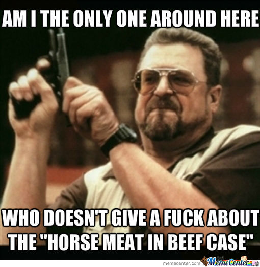 Horse Meat In Beef Case, Any Better Name Around? :3