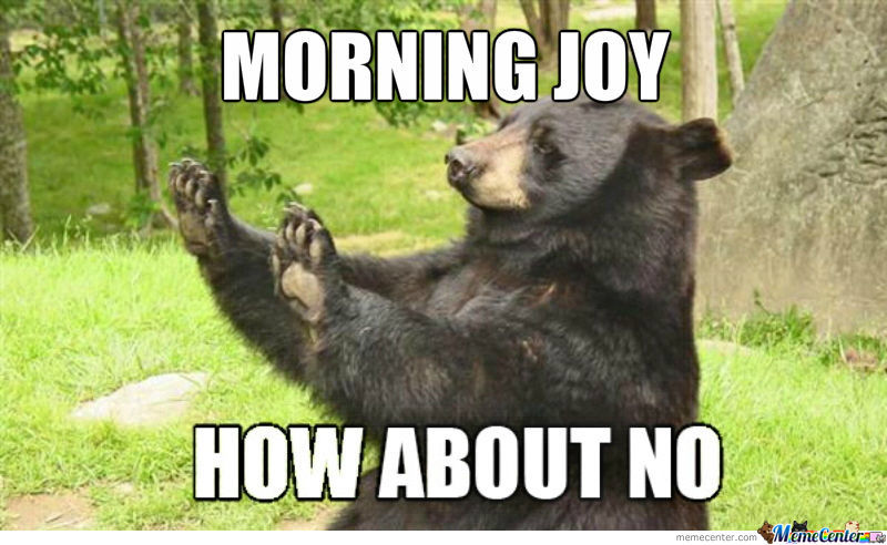 How About No Bear On Morning Joy