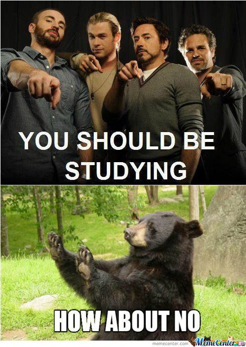 Avengers: You should be studying